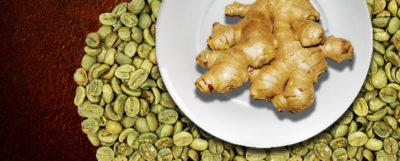 Zelená káva se zázvorem