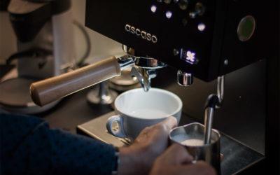 Detail na pákový kávovar