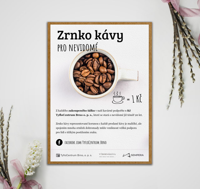 Zrnko kávy pro nevidomé: drobný skutek, který pomáhá